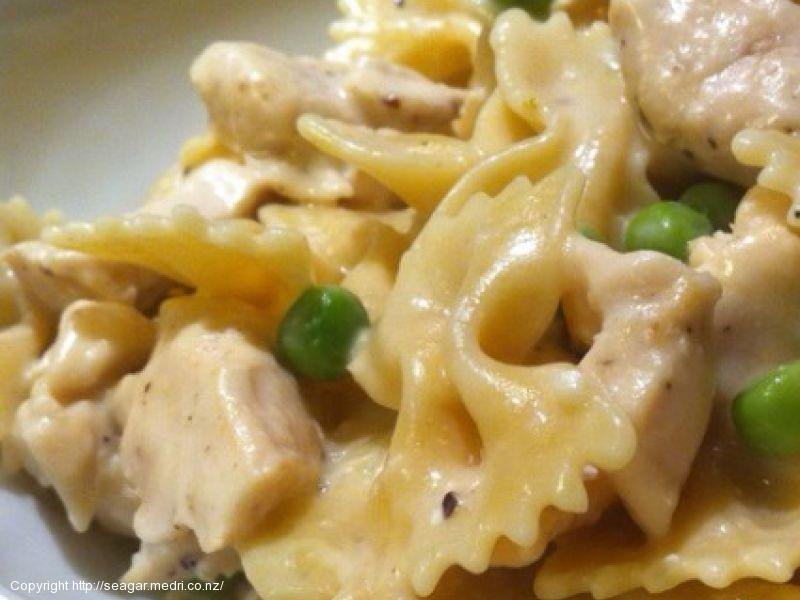 Lemon Chicken Pasta with Tarragon